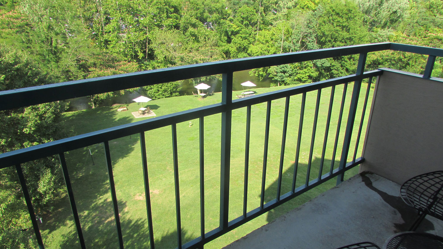 "View from ""Sunday Best"" River View Balcony Room"