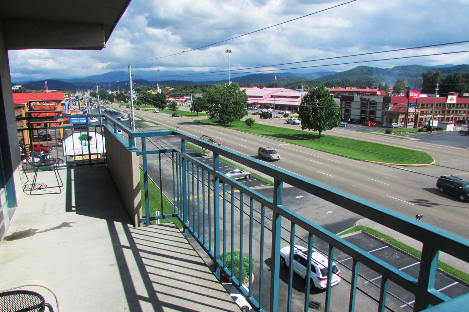 View from Pigeon Forge Parkway view room