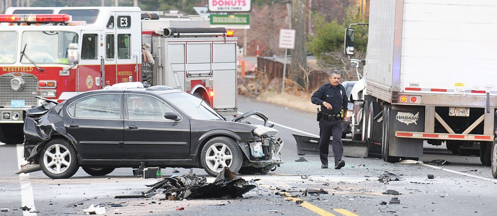 Police at a traffic accident - making sense of the senseless.