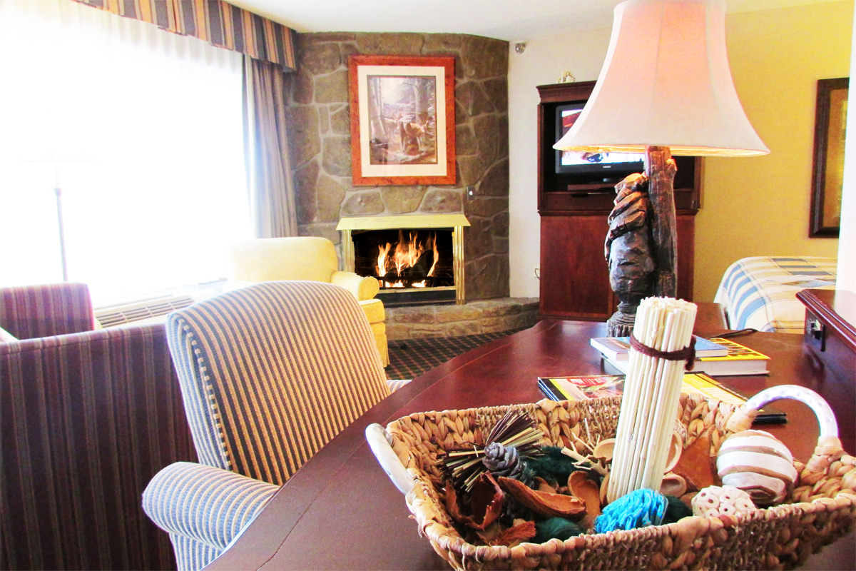 Fireplace room in Pigeon Forge