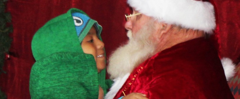 Santa has a big discussion nose ton nose.