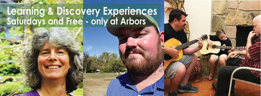Family Friendly Learning & Discovery Workshops, Pigeon, Forge, at Arbors