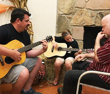Bill Young Guitar, Song, Violin - now teaching at Arbors Hotel Pigeon Forge, part of their learning & discovery workshops for their guests