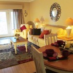 Main Living area -- open plan, Arbors Vacation Rentals - 2 bedrm condo, Pigeon Forge at Golf View Resort