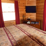 Main floor bedroom with bath and jet tub -  -  Luxury 5 Bed cabin rental, Pigeon Forge