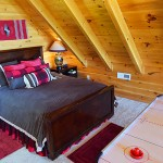 Loft Qn bed  -  Luxury 5 Bed cabin rental, Pigeon Forge