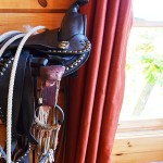 Western saddle detail, Great Room,  -  Luxury 5 Bed cabin rental, Pigeon Forge