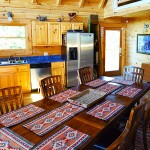 Dining area, open plan great room -  Luxury 5 Bed cabin rental, Pigeon Forge