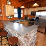 Kitchen area, open plan - at Tahlequah, Arbors Vacation Rentals, Pigeon Forge