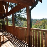 Shaconage Lower Porch pnorama view  - Luxury 5 Bed cabin rental, Pigeon Forge