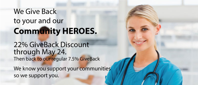 Heroes GiveBack - 22% only at Arbors at Island landing Hotel- Pigeon Forge