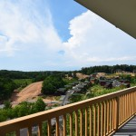 Luxury Condo 2 Bedroom Arbors Vacation Rentals - outside corridor view with Dollywood to right
