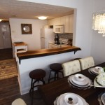 Luxury Condo 2 Bedrm dining and open plan kitchen