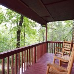 Moonshine Ridge vacation rental Wear's Valley Pigeon Forge Porch with Rockers