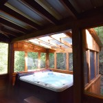 Moonshine Ridge vacation rental Wear's Valley Pigeon Forge Hot Tub on screened porch